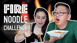 Korean Spicy Fire Noodle Challenge *SPIT ALERT*