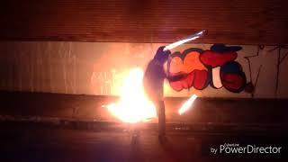 Fire staff contact spin Adam - Skydream 38 - Ninja Fire