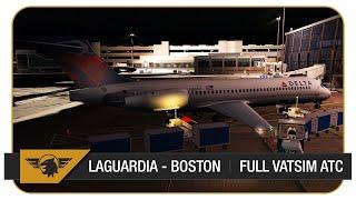 [P3D V4 60FPS] LaGuardia - Boston | Full Flight | VATSIM | TFDi 717