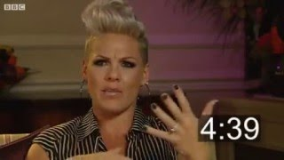 Pink Video - BBC Five Minutes With Pink Interview - She's amazing!!