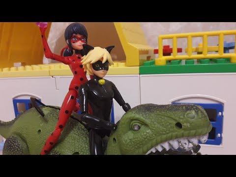 Леди баг и супер кот Динозавр Рекс Мультик из игрушек
