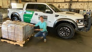 Unboxing My Border Patrol Ford Raptor's Massive Mystery Box Full of Parts