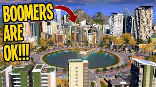 How to Grow a Stagnant City with Boomers, Parks & Parking in Cities Skylines! #TeaVille