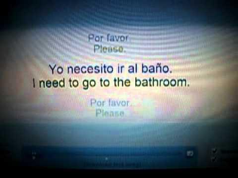 I need to go to the bathroom spanish w lyrics youtube for Go to the bathroom in spanish