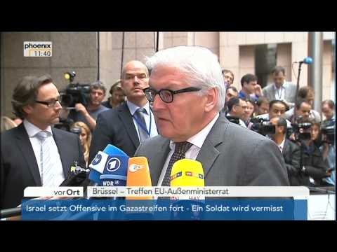 Ukraine-Krise - Frank-Walter Steinmeier zum Absturz des Fluges MH17 am 22.07.2014