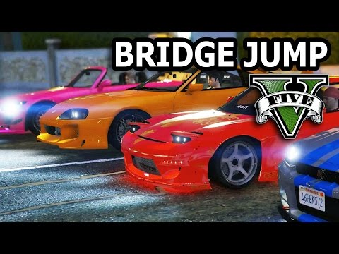 GTA V - 2 Fast 2 Furious Bridge Jump Scene