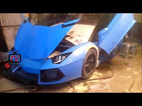 BEST FAKE LAMBORGHINI AVENTADOR-Lamborghini Aventador Palsu di bandung Lagi Di Betulin