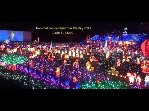 2012 Hammel Family Christmas Light Holiday Display in Davie, Florida.