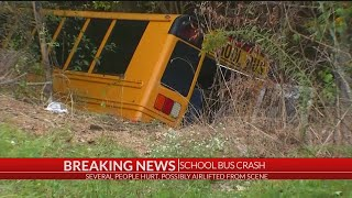 School bus crash in Greenwood Co., multiple people taken to the hospital