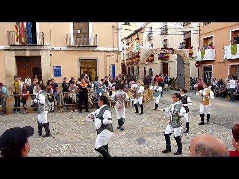 Mosqueteras de Almansa en Fiestas de Albaida (final desfile)