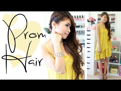 Prom Hairstyle: Side-Swept Braid Long Hair Tutorial - Bebexo