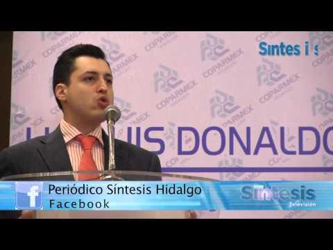 Luis Donaldo Colosio Riojas habló en Pachuca sobre los problemas que enfrenta el país