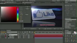 FB Like Speed Art (Cinema 4D + After Effects)