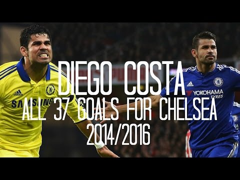 Diego Costa - All 37 Goals for Chelsea - English Commentary (Just Goals) - 2014/2016