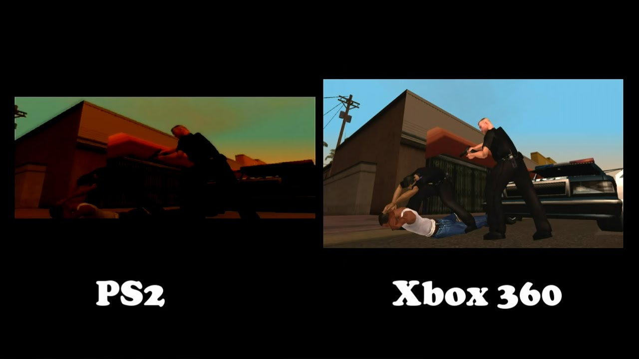 Gta San Andreas Ps2 Gameplay Gta San Andreas Xbox 360 vs
