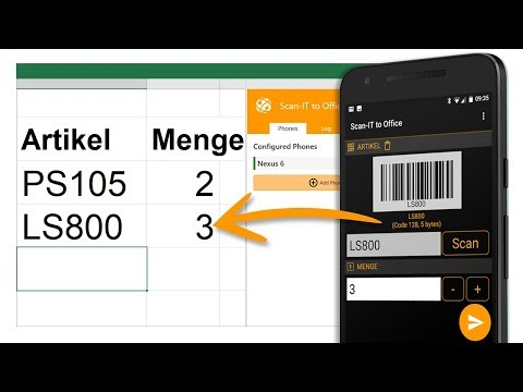 Mobile Datenerfassung und Barcodescannen für Android und iOS