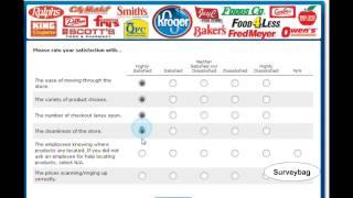 www.krogerfeedback.com Kroger survey video by Surveybag