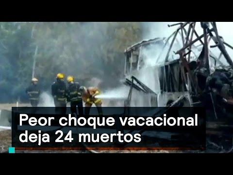 Accidente en carretera Siglo XXI causa 24 muertos - Accidentes  - Denise Maerker 10 en punto