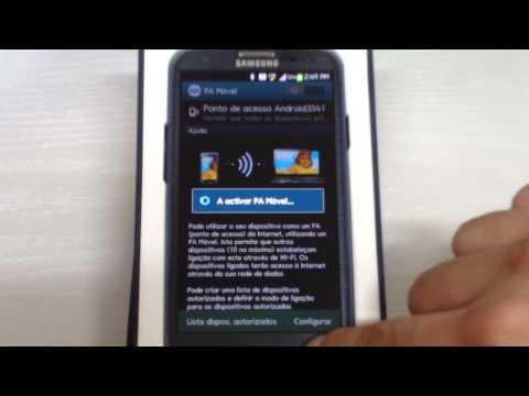 Galaxy S3 SIII Dica: Compartilhar internet. o sinal via WiFi. 3G-LTE