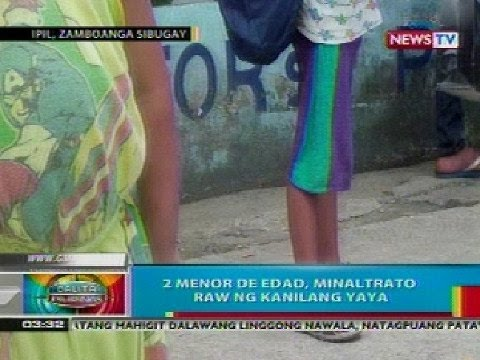 Bp: 2 Menor De Edad Sa Ipil, Zamboanga Sibugay, Minaltrato Raw Ng Kanilang Yaya video