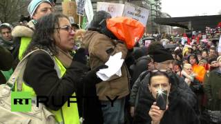 UK: March for Homes - Hundreds march for housing in London Image