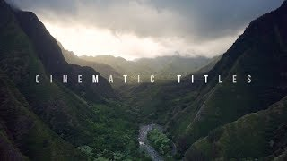 CINEMATIC Motion Graphics Titles for Premiere (FREE TEMPLATES)