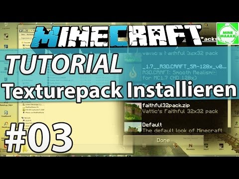 [1.8] Minecraft Texturepack Installieren (Resourcepack) - Tutorial + Download [Deutsch/HD]
