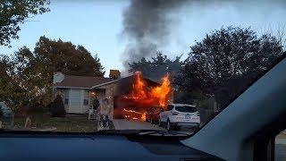 House fire in West Jordan, Utah - 10/12/2017