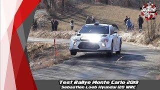 Test Rallye Monte Carlo 2019 - Sébastien Loeb - Hyundai i20 WRC - DAY 2 - Aa26 Racing