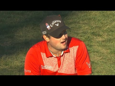 Patrick Reed nearly holes chip from the rough at Deutsche Bank