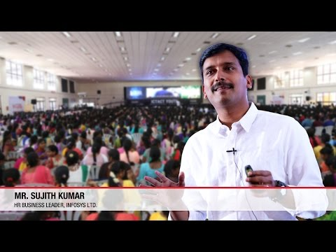 How to become a leader? Mr. Sujith Kumar, HR Business Leader,  Infosys Ltd describes at Youth Summit