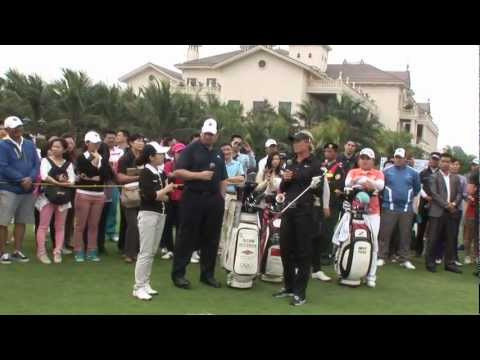 Feng Shanshan, Inbee Park & Suzann Pettersen Golf Clinic  - World Ladies Championship 2013