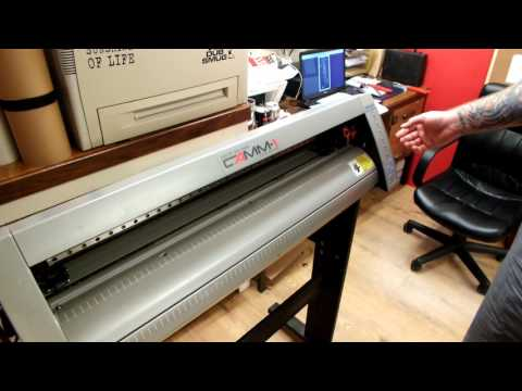 Vinyl plotter basics and set-up, Roland CM-24 . part 2