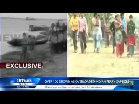 Over 100 drown as overloaded Indian ferry capsizes