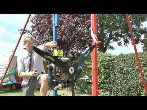 自宅に360度回転する巨大ブランコを自作しモーターをオプションで付けてみた!