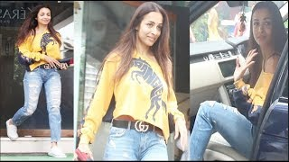Beautiful Malaika Arora $exiest Look At Freeda Beauty E Salon Bandra | FWF