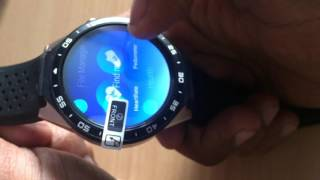 Kingwear kw88 smart watch tech review close look,want to buy?