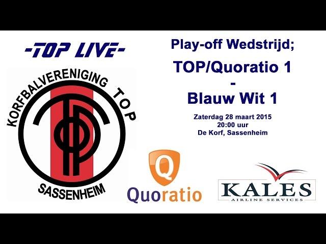 TOP/Quoratio 1 tegen BlauwWit 1, zaterdag 28 maart 2015