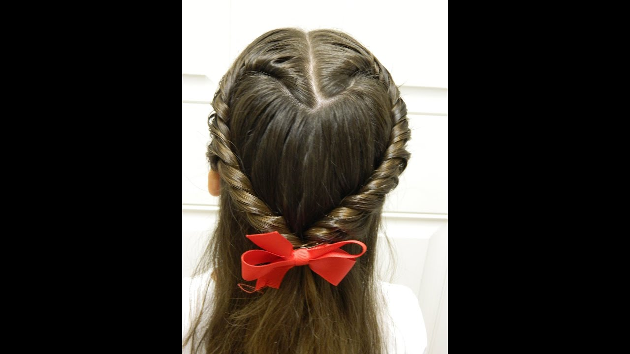 Easy twisted heart valentine s day hairstyle bonita hair do