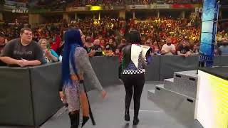 Bayley New Heel Entrance With Sasha Banks 2019
