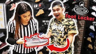 BUYING SIZE 18 SNEAKERS AT FOOTLOCKER!!