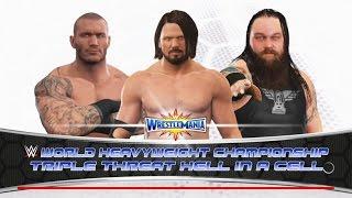 Randy Orton vs Bray Wyatt vs A.J. Styles -WWE World Championship- Wrestlemania 33- Dream Match