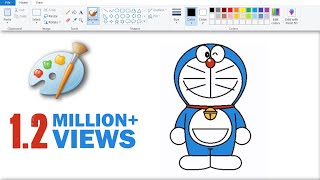 How to Draw Doraemon in MS Paint (Easy)