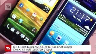 Samsung Galaxy S3 vs HTC One X test comparison