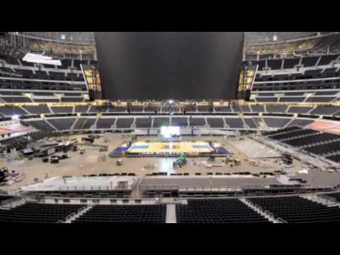 Cowboys Stadium Basketball Time-Lapse (NBA All Star Game 2010 Dallas) Video