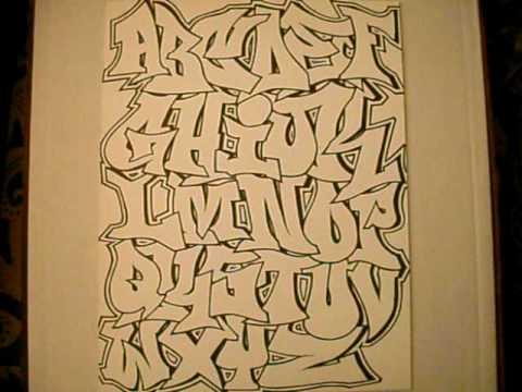 Billedresultat for graffiti alphabet throwie style  abc