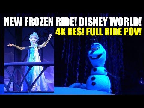 New Frozen Walt Disney World Ride! Full On-Ride POV! 4K Resolution! Orlando