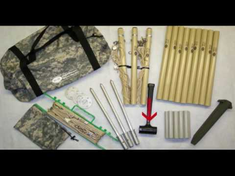 Barker & Williamson HF ManPack Antenna Setup for Military