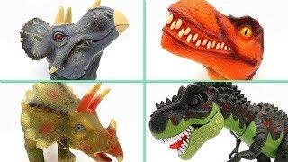 Dinosaur Toys For Kids - Tyrannosaurus Triceratops Big Heads Toys In Jurassic World Dino Set