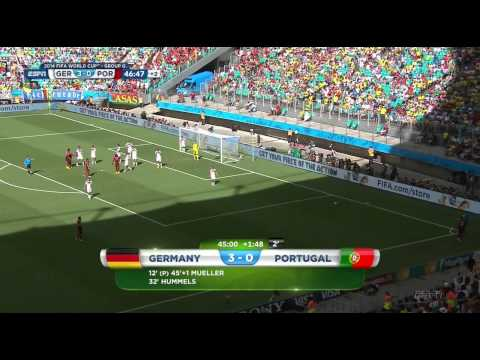 FIFA World Cup 2014 First stage - Group G Germany vs Portugal